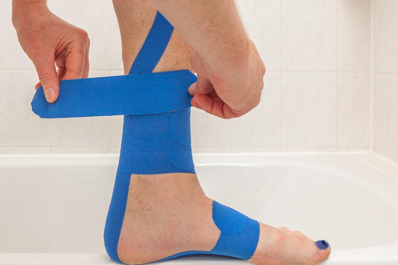 Medi-Tape zur Selbstbehandlung einer Achillsesehnenreizung